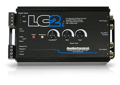 AudioControl LC2i Black 2 Channel Line-Output Converter with AccuBASS