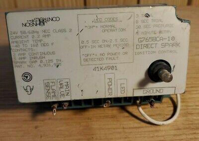 Johnson Controls Direct Spark Ignition G765bca-10 41k4901