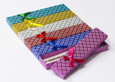Geschenkbox - Schmuckschachtel - Etui für Halskette,  Größe 21*4*2 cm - 12 st.