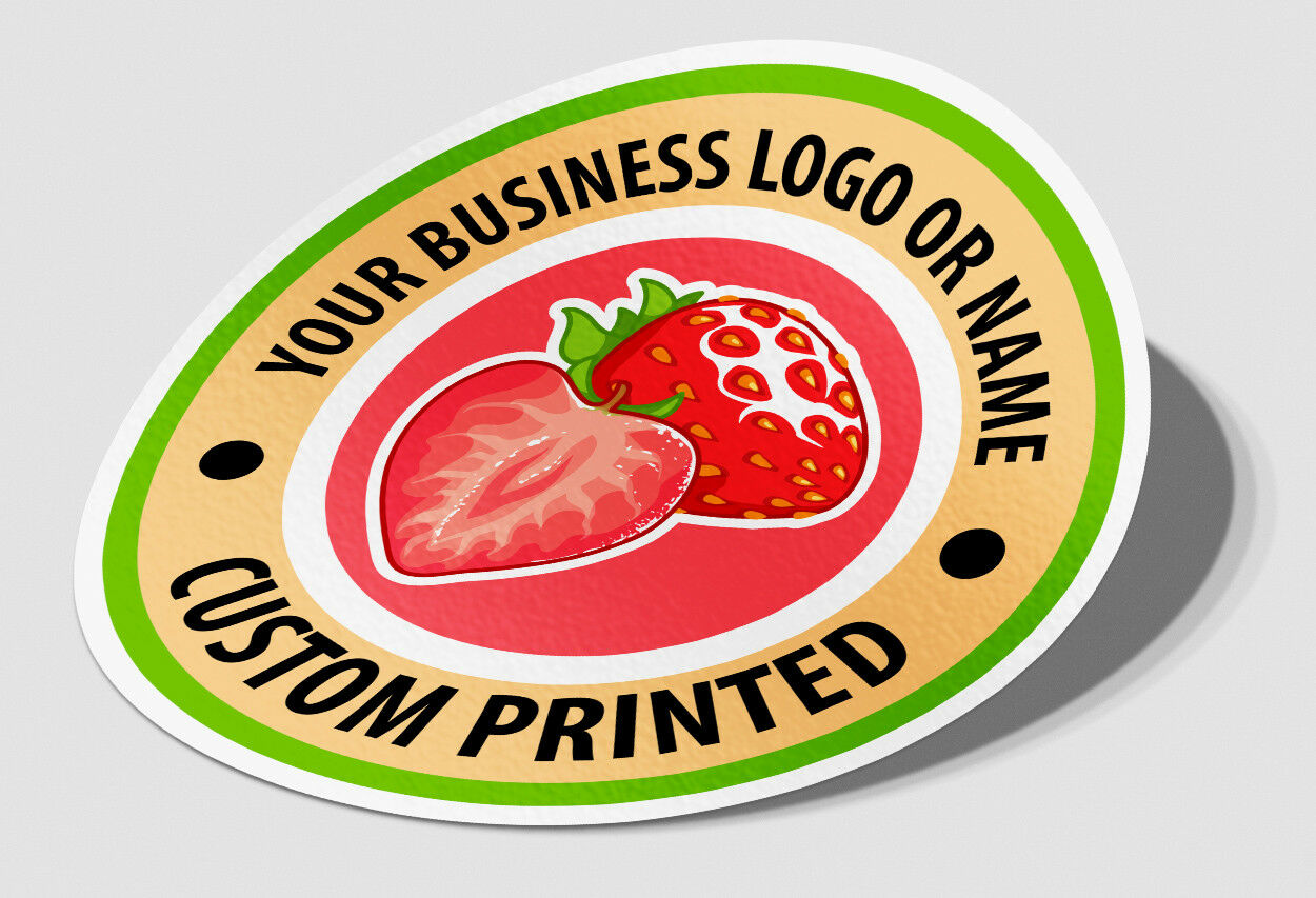Details about Business stickers round circle logo work sign custom  Packaging label shop front