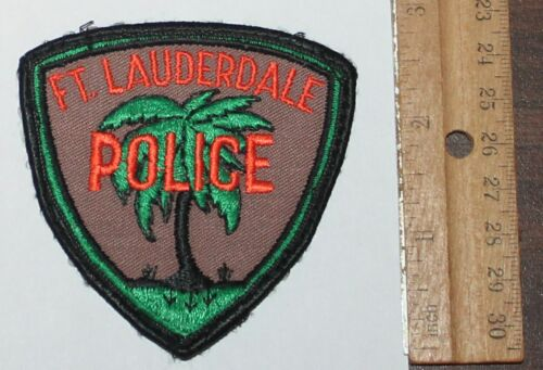 Old FORT LAUDERDALE POLICE Florida FL Fla PD Used Worn Vintage patch #1