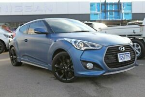 2015 Hyundai Veloster FS4 Series II SR Coupe Turbo Blue 6 Speed Manual Hatchback