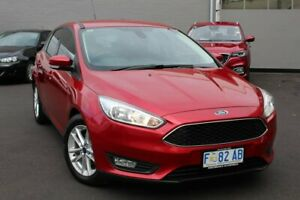 2016 Ford Focus LZ Trend Red 6 Speed Automatic Hatchback Glebe Hobart City Preview