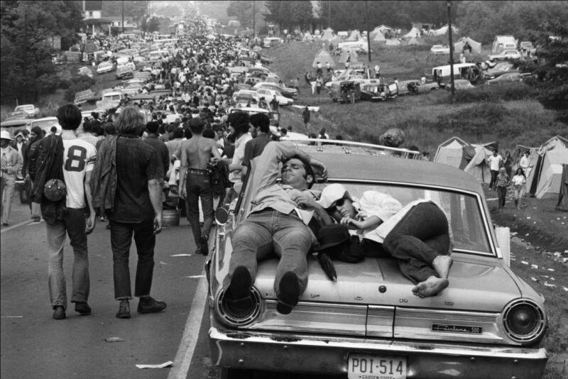 Festival Woodstock 1969 Black And White  8x10 Photo Print