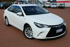 2016 Toyota Camry AVV50R Atara S White 1 Speed Constant Variable Sedan Hybrid