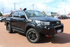 2020 Toyota Hilux GUN126R Rugged X Double Cab Black 6 Speed Sports Automatic Utility