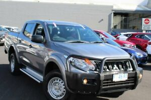 2017 Mitsubishi Triton MQ MY17 GLX Double Cab Grey 6 Speed Manual Utility Glebe Hobart City Preview