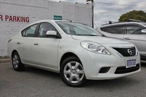 2013 Nissan Almera N17 ST White 4 Speed Automatic Sedan