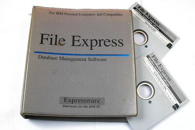 File Express Dos Based Database Software-on 5.5 Floppies H-1-3-5-1
