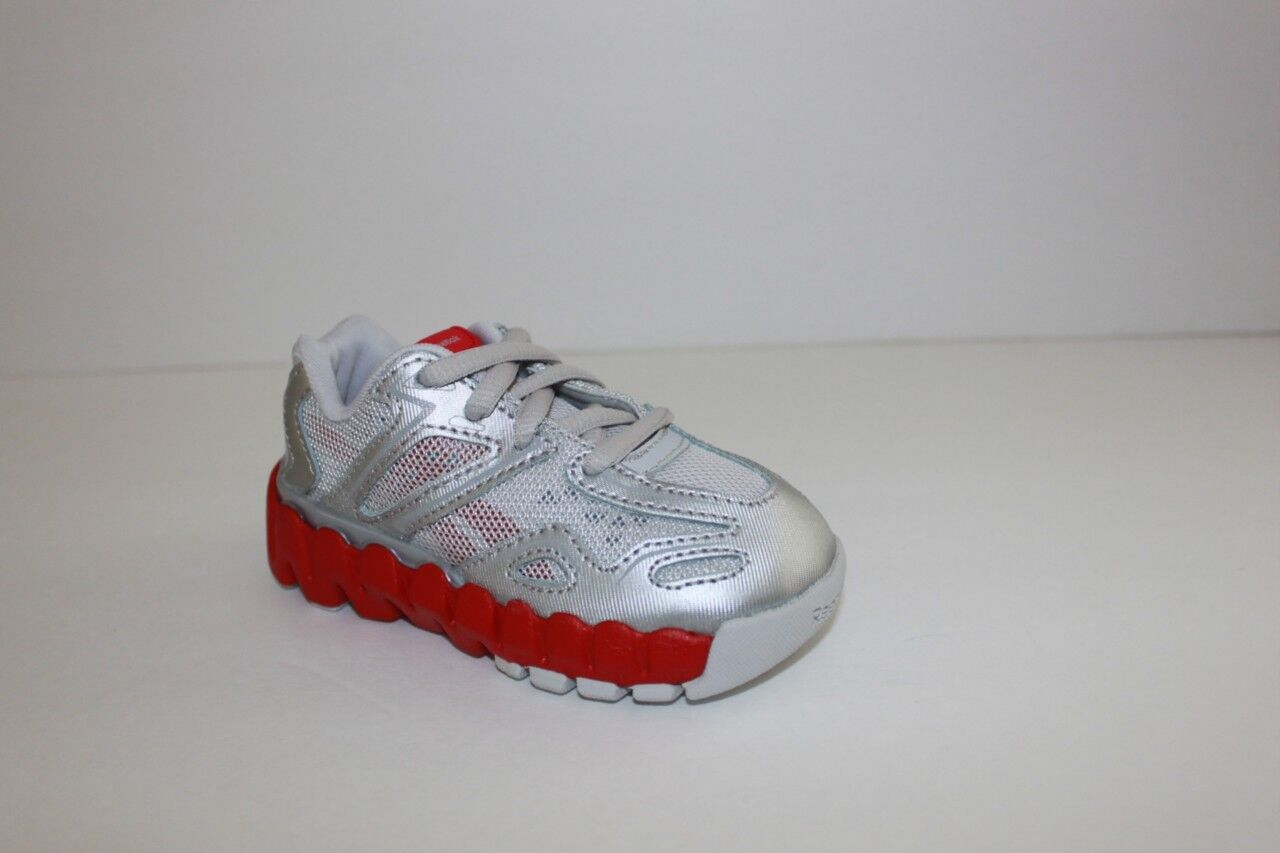 Kid Infant Toddler Reebok Silver Gray Athletic Running Sneaker Shoe 5.5 M