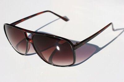 Brown Gradient lens Aviator Celebrity Sunglasses (Brown Gradient Lens)
