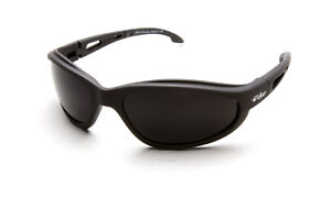 Edge Eyewear TSM216 Dakura Polarized Safety Glasses - Black/Smoke Lens