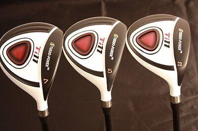 Big Tall +1 Xl Custom Made Fairway 3 5 7 Regular Golf Clubs Taylor Fit Wood Set