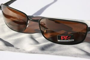 Pablo-Zanetti-Rectangular-Polarized-Sunglasses-Aluminum-Fishing-Brown-Lens-Golf