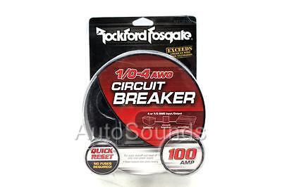 Rockford Fosgate RFCB100 100 Amp Circuit Breaker 1/0-4 AWG