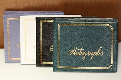 5 Pioneer Ab-2 Autograph Books -embossed -50 Sheets Each -asst Colors