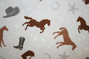 SADDLE-UP-COUNTRY-WESTERN-FABRIC-for-COWGIRL-HORSE-or-PONY-COLLECTION