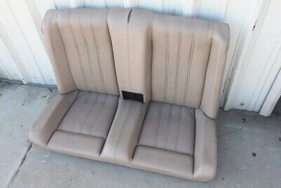 BMW E30 318i 325i Convertible Rear Seat Back tan Natur Beige Vinyl OEM Bmw 325i E30