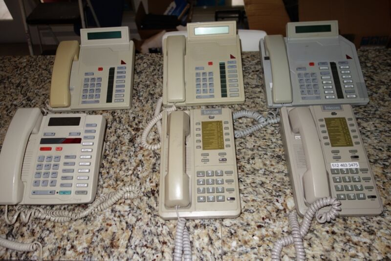 Lot of 6 Business Telephones Norther Intecom Aastra ITE Meridian