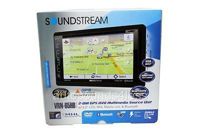 "Soundstream VRN-65HB DVD/CD/MP3 Player 6.2"" Touchscreen GPS Navigation Bluetooth"