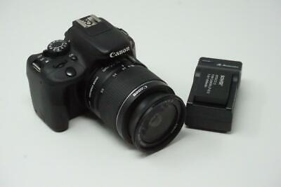Canon Rebel SL1 EOS 100D 18.0MP Black DSLR Camera Body  + Lens G222