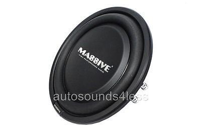 "Massive Audio UFO 10 600 Watt 10"" Dual 4 Ohm Shallow Truck Car Audio Subwoofer"