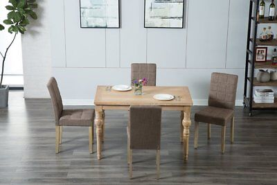 Oliver Smith Roosevelt Collection 5 Piece Dining Set With Dark Grey Brown (5 Piece Dining Collection)
