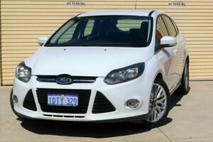2011 Ford Focus LW Sport PwrShift White 6 Speed Sports Automatic Dual Clutch Hatchback Mount Lawley Stirling Area Preview