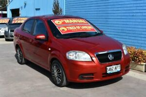 2009 Holden Barina TK MY09 Red 5 Speed Manual Sedan Enfield Port Adelaide Area Preview