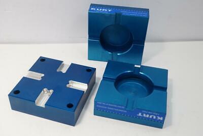 New Kurt 3pc 4 Soft Aluminum Jaw Set. Dlu4alu-jawkit For Carvlock Vise