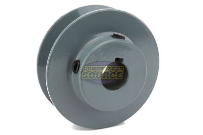 """3"""" Cast Iron 5/8"""" Shaft Pulley Sheave Single 1 Groove V Style B Belt 5L New for sale  Lincoln"""