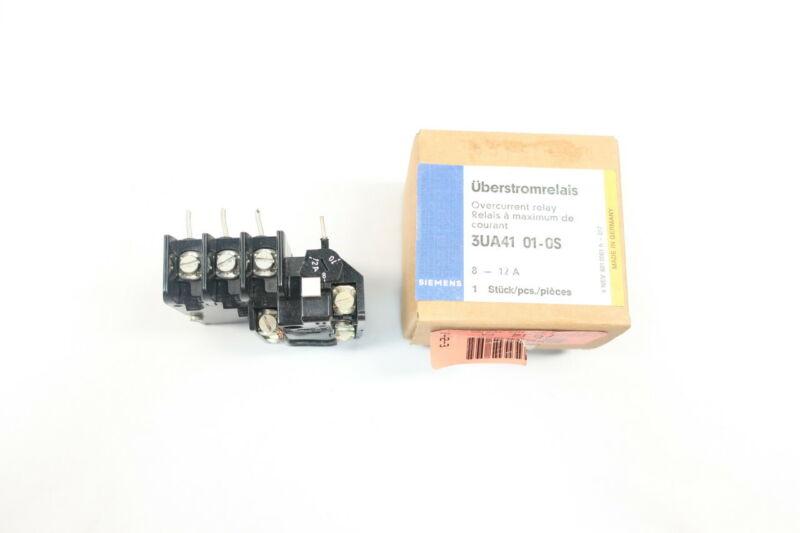 Siemens 3UA4101-0S Overload Relay 8-12a Amp