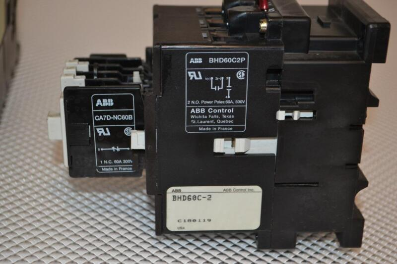 ONE USED ASEA BROWN BOVERI CONTACTOR BHD60C2P.