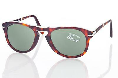 Authentic New PERSOL 714 Folding Sunglasses  24/31 52  Brown,  Steve McQueen