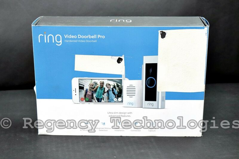 RING VIDEO DOORBELL PRO & CHIME PRO | 8VR1X8-0ENB | SATIN NICKEL