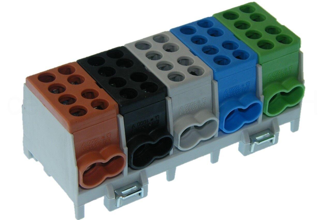 Hauptleitungs Abzweigklemme 5 polig für Hutschiene - Strom Verteiler