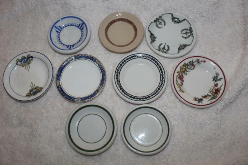 Vintage Restaurant China 9 Different Butter Pats 1930