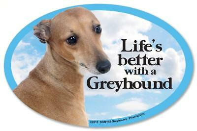 Life's Better With A Greyhound Dog Car Fridge Plastic Magnet