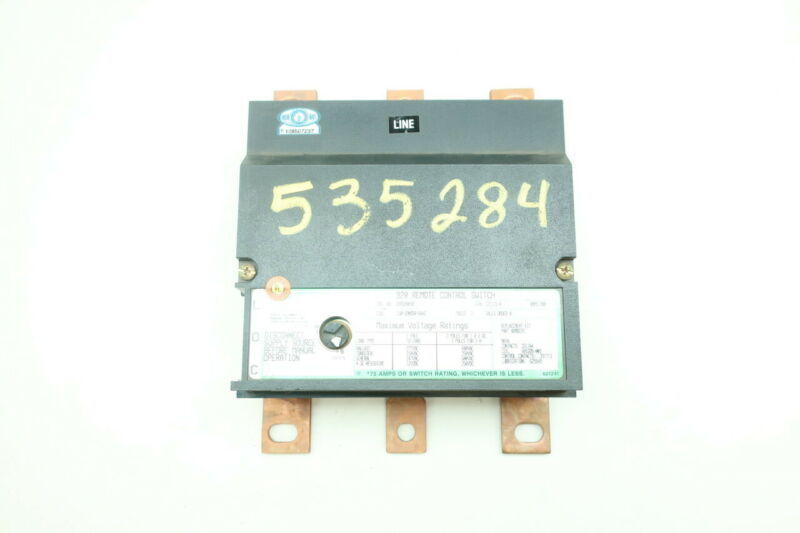 Asco 920320030 Remote Control Switch 120v-ac