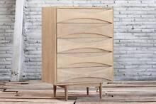 New Arne Vodder Replica Tallboy 5 Drawer Danish Free Delivery! Wentworth Falls Blue Mountains Preview