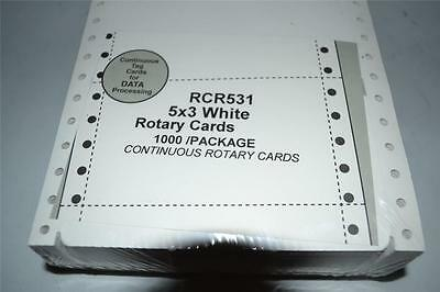 1000 Rotary File Refill Cards 3 X 5 On Continuous Feed Form Fits Rolodex