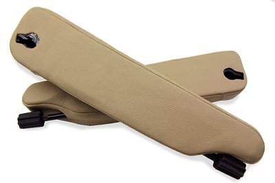 Land Rover Range Rover P38 Seat Armrest Covers Real Leather Beige For 96-02 for sale  Shipping to Ireland