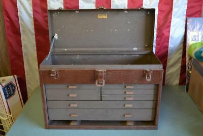 Vintage Kennedy Kits 520 Metal 7 Drawer Machinist Toolbox Tool Chest Box