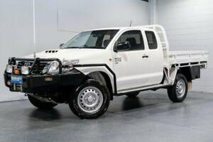 2015 Toyota Hilux KUN26R MY14 SR (4x4) White 5 Speed Manual X Cab Cab Chassis Woodridge Logan Area Preview