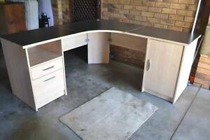 Desk & Cupboard. Corner desk with matching cupboard. Two of each. Jewells Lake Macquarie Area Preview