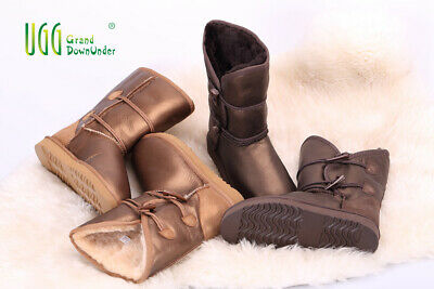 Clearance Uggs (Clearance UGG3/4 Horn Buckles Metal twinface Sheepskins Premiun Water Resistant)