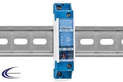 - Schienen-montage (Eltako  Installationsrelais R12-100-230V - Schaltrelais für Hutschienenmontage)