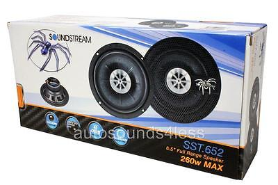 "Soundstream SST.652 260 Watts 6.5"" 2-Way Coaxial Car Audio Speakers 6-1/2"" New"