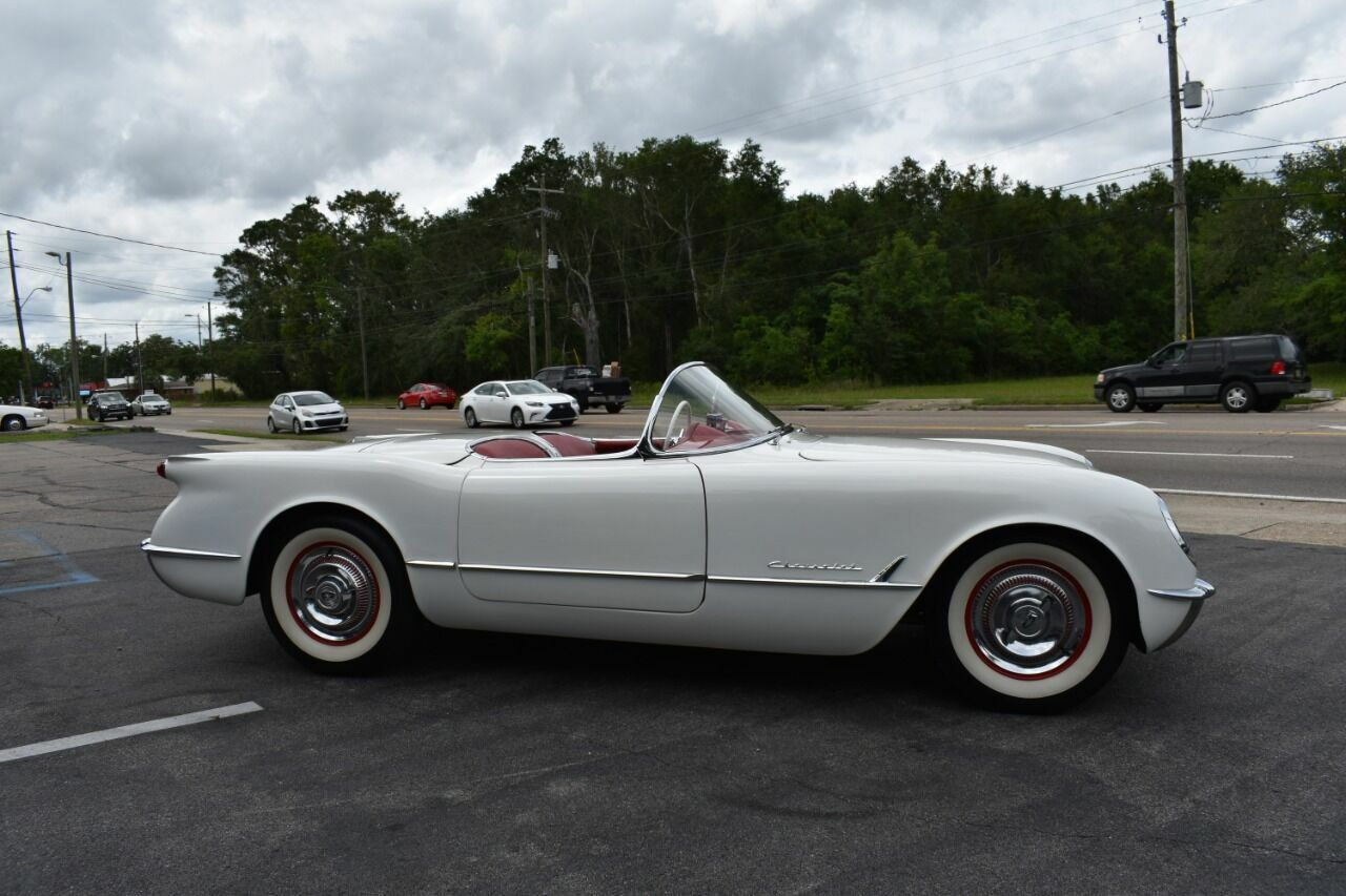 1954 White Chevrolet Corvette   | C1 Corvette Photo 9