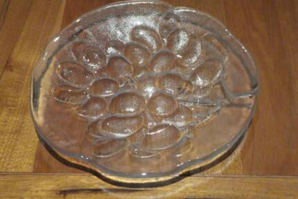 "2 Kosta Boda ""Grape"" Glass Plates"